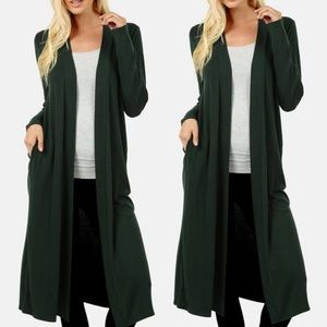 c6720b023bd Women Long Sweater Duster on Poshmark